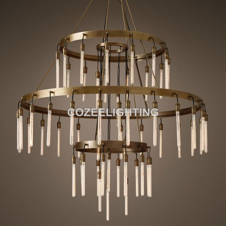 Naujas didelis, didelis, liustra, šviestuvas, LED, Edison, lemputė, - Vidinis apšvietimas - Nuotrauka 5