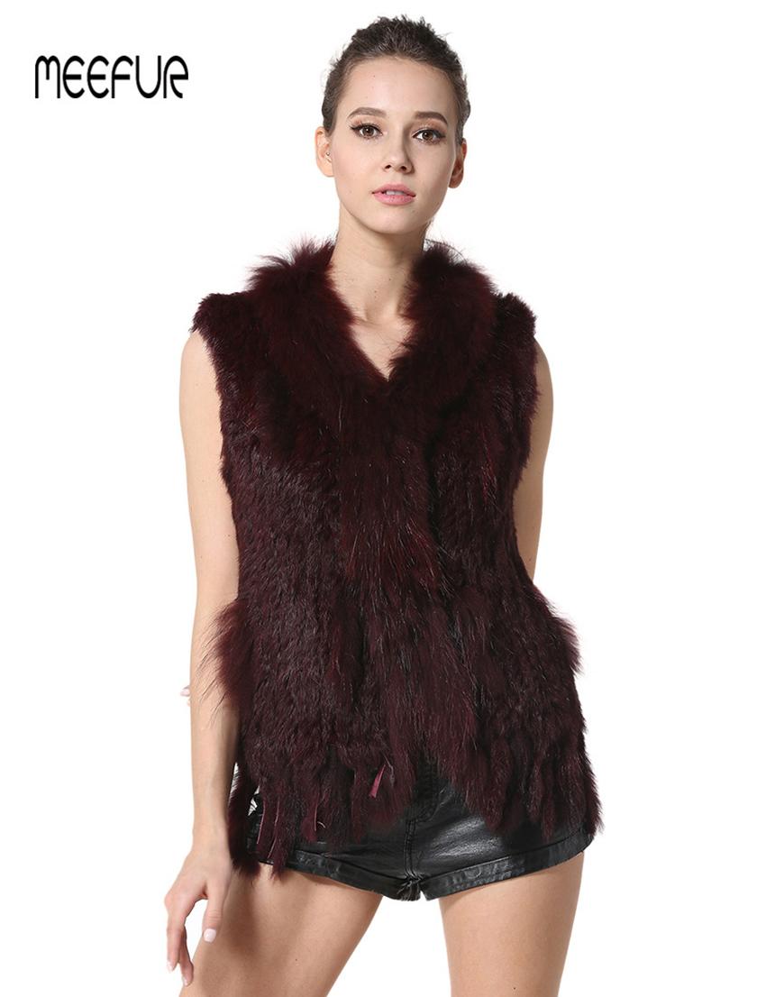 natural Raton Laveur Gilet De Glands Fourrure Lx00003 Casual natural Green Lapin coffee Gilets Avec army black Red Brown Classica wine Femmes Grey Sapphire Collier white khaki Vraie Tricoté q0wFFY