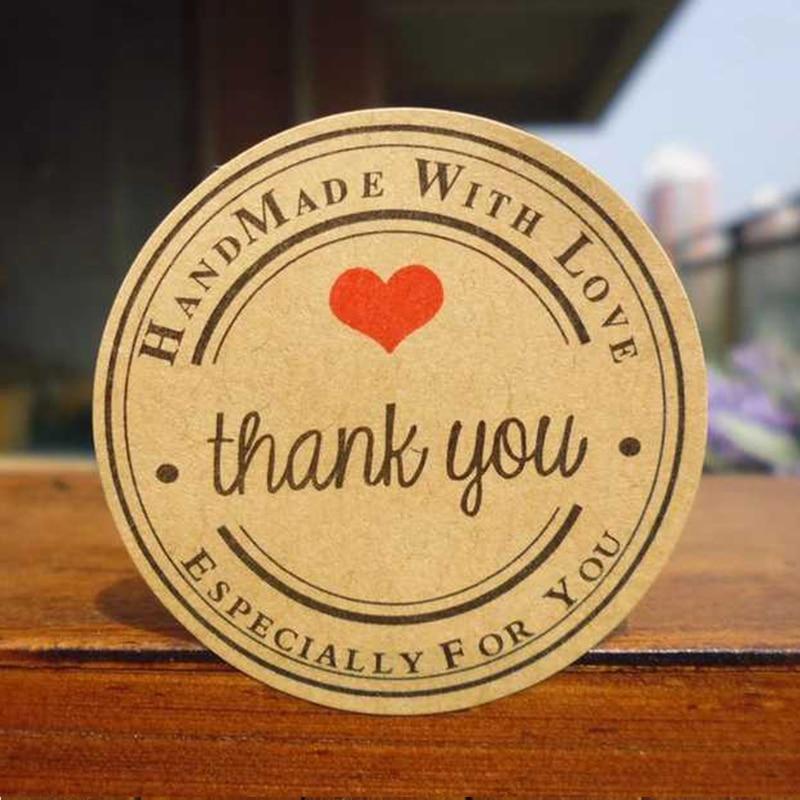 120pcs/lot Handmade wtih Love Heart Round Thank you Scrapbooking Kraft Paper Label Sticker/DIY Gift Sticker/Sealing Stickers120pcs/lot Handmade wtih Love Heart Round Thank you Scrapbooking Kraft Paper Label Sticker/DIY Gift Sticker/Sealing Stickers