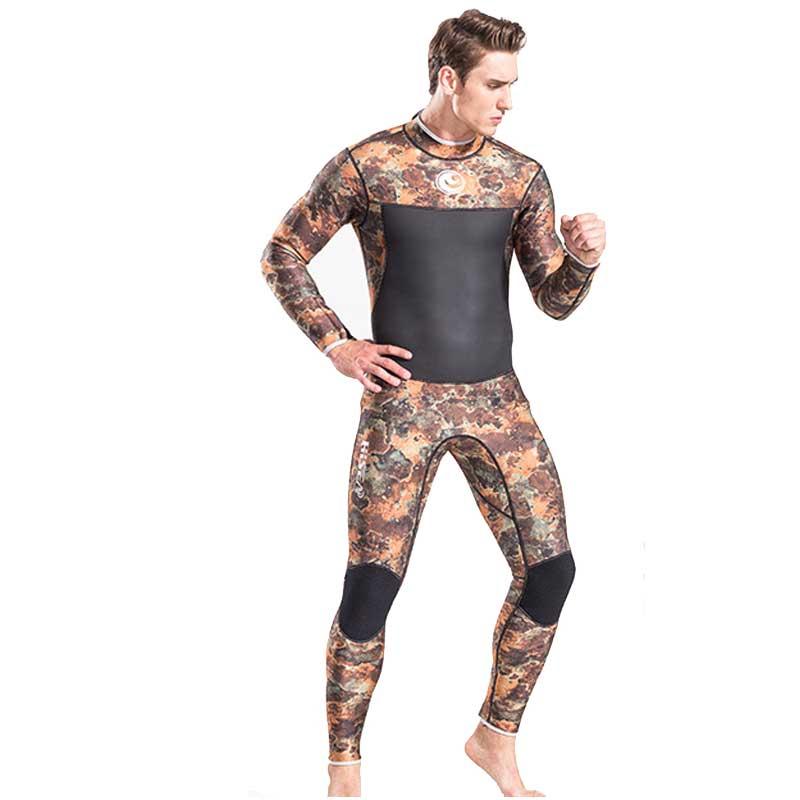 Full Wetsuit Men 3mm Neoprene Camo Wetsuits Scuba Diving Suits Surf Suit Diver Snorkeling Suit Jumpsuit sbart 3mm wetsuit scuba diving suit neoprene wetsuit men fishing surfing wetsuits full body one piece dive surf wet suits