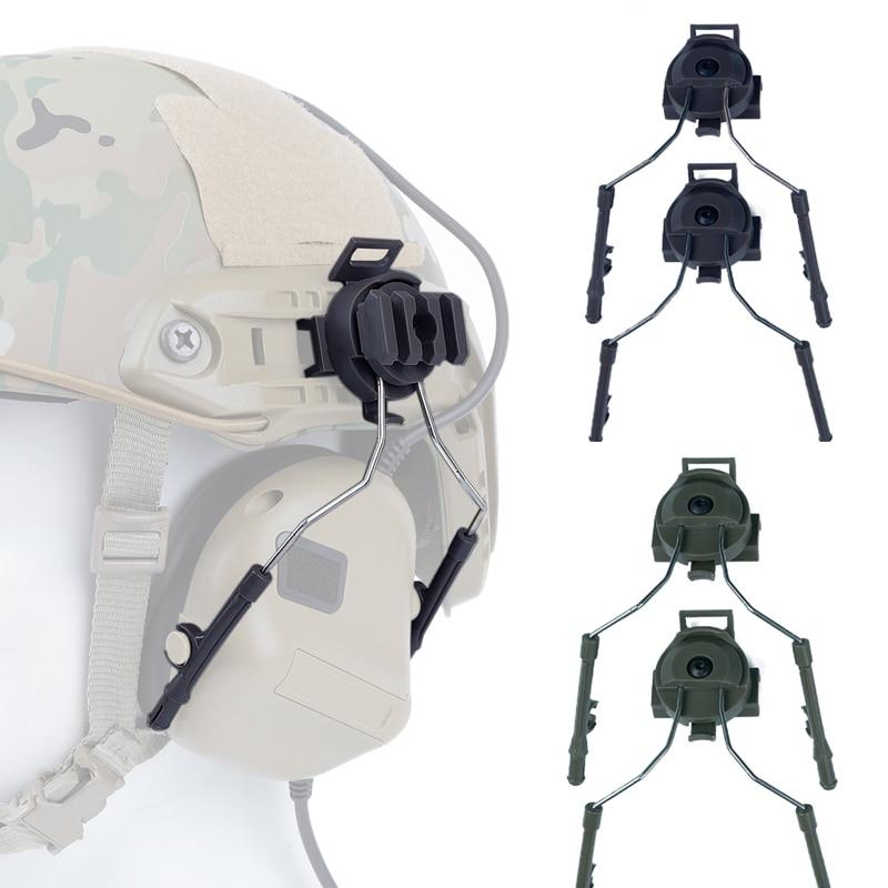 Tactical Helmet Adapter Set  Airsoft Paintball Headset Holder Army Fast Helmet Rail Adapter Rail Mount Kit