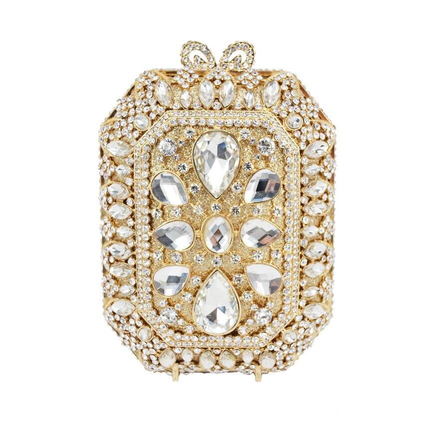 ФОТО Wedding Bridal Woman Rhinestone Evening Bag Crystal Purse High Quality Vintage Luxury Brand Women Clutches Mini clutch 521