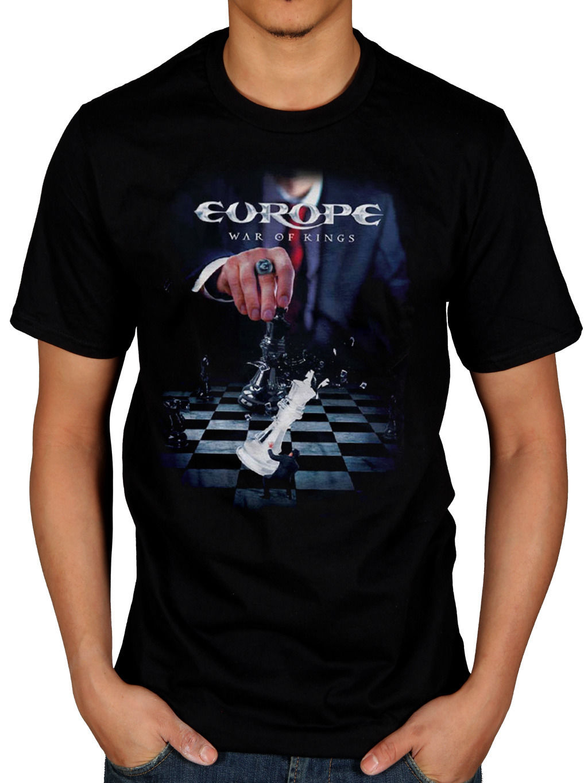 Design t shirt europe - 2017 Customize Mens Europe War Of Kings T Shirt Rock The Final Countdown Bag Of Bones Design Tops Tee Fashion Printed T Shirt