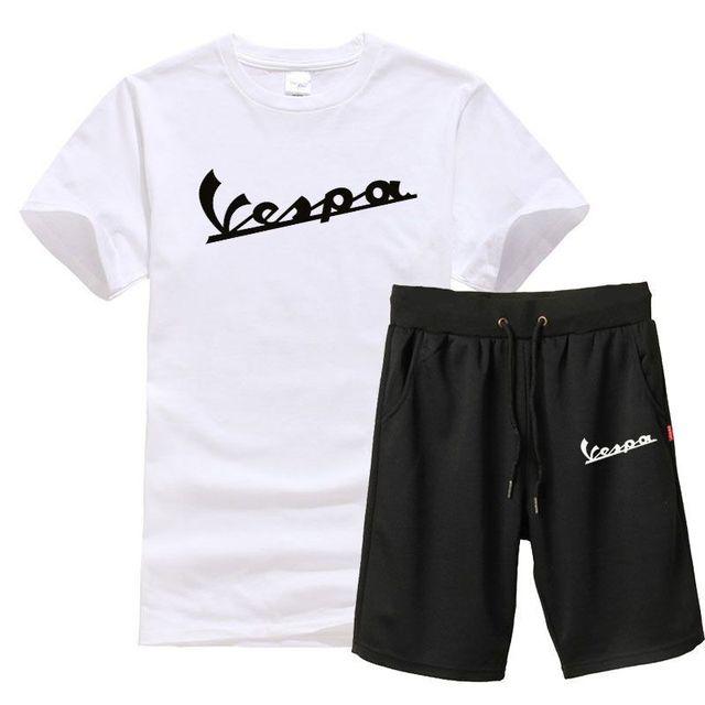 8fc916b249 US $6.31 19% OFF|Summer Set Men Causal Beach Suits Short Sleeve Shorts  Vespa Sweatsuit+Pants Fashion Tracksuit Mens Sportsuits T shirt+Shorts-in  Men's ...