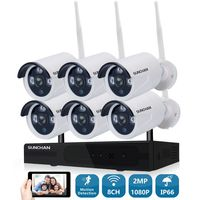 8CH CCTV System Wireless 1080P NVR 6PCS 2 0MP IR Outdoor P2P Wifi IP CCTV Security