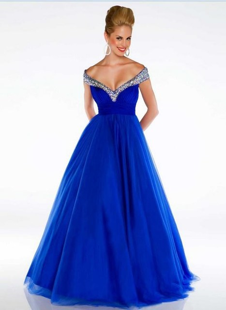 Royal Blue Sexy Maternity Dresses