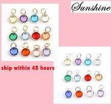 Фотография 60pcs/lot 12 Colors Assorted Alex and Ani 12mm Birthstone Charm Pendant For Glass Locket&Bracelets Accessories