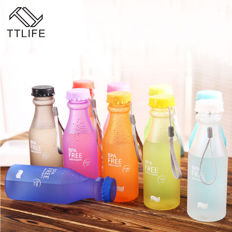 TTLIFE New Hot Sale Portable Leak-proof Bike Sports Unbreakable 550ml Plastic Water Bottle Free Shipping