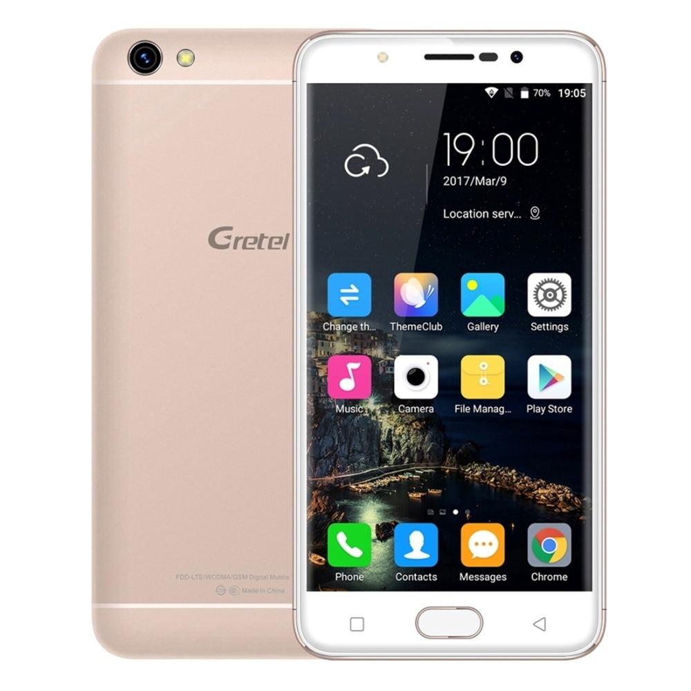 Original Gretel A9 4G Mobile Phone Android 6.0 2GB RAM 16GB ROM MT6737 Quad Core 1.25GHz 720P 8MP Dual SIM 5.0 inch Cell Phones