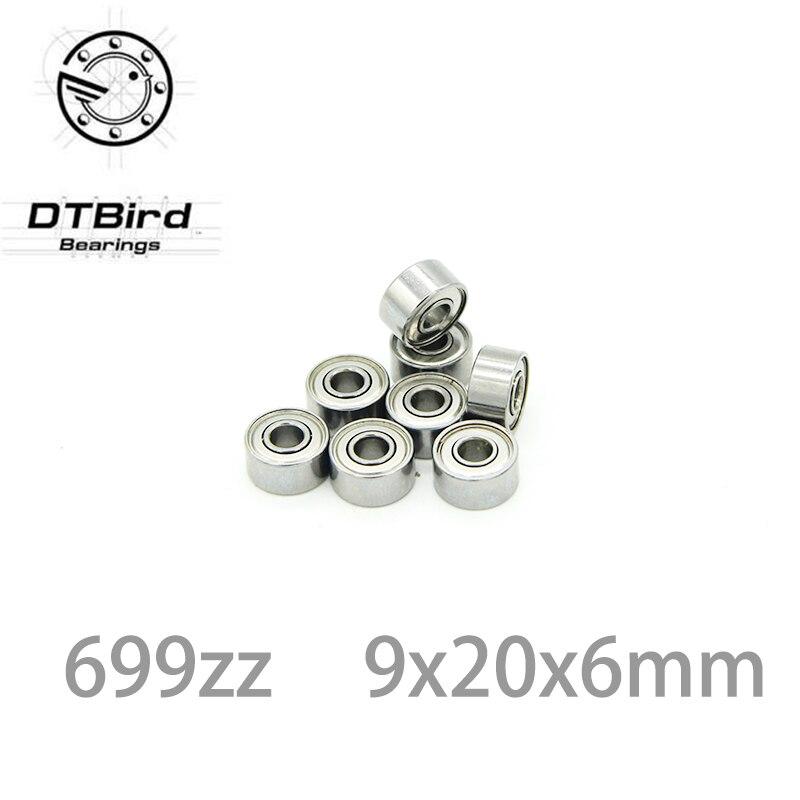 ABEC-1 10PCS  699ZZ 699 ZZ 9x20x6mm Mini Ball Bearing Miniature Bearing Deep Groove Ball Bearing Brand New 9*20*6 MM gcr15 6326 zz or 6326 2rs 130x280x58mm high precision deep groove ball bearings abec 1 p0