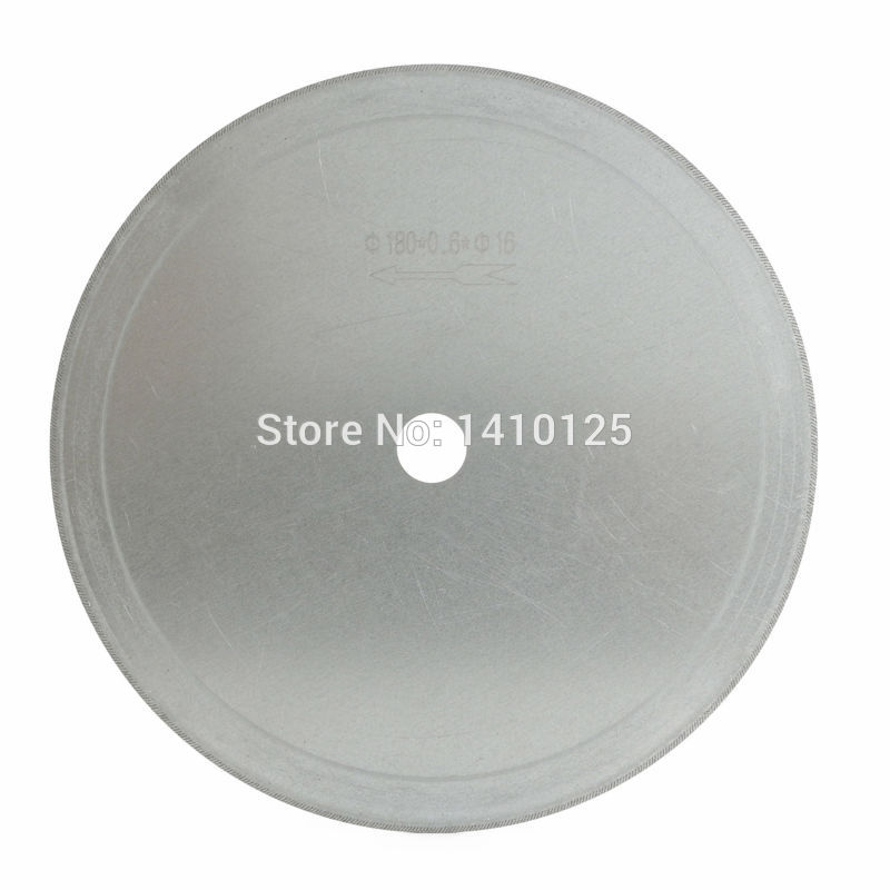 7 inch Super-Thin Arbor Hole 16mm 5/8 Rim 0.65mm Diamond Saw Blades Lapidary Cutting Disc Jewelry Tools for Stone Gemstone 68mm lapidary super thin diamond coated core drill bit hole saw masonry drilling 0 7mm rim save materials for jasper gems agate