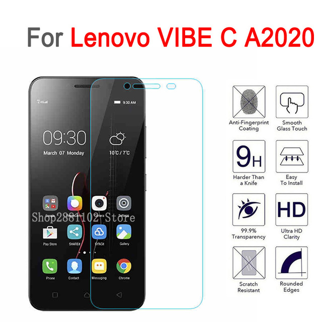 US $1 51 5% OFF|Tempered Glass For Lenovo Vibe C A2020 Glas Screen  Protector For Lenovo Vibe C a2020a40 2020 Protective cover Phone Film  Case-in Phone