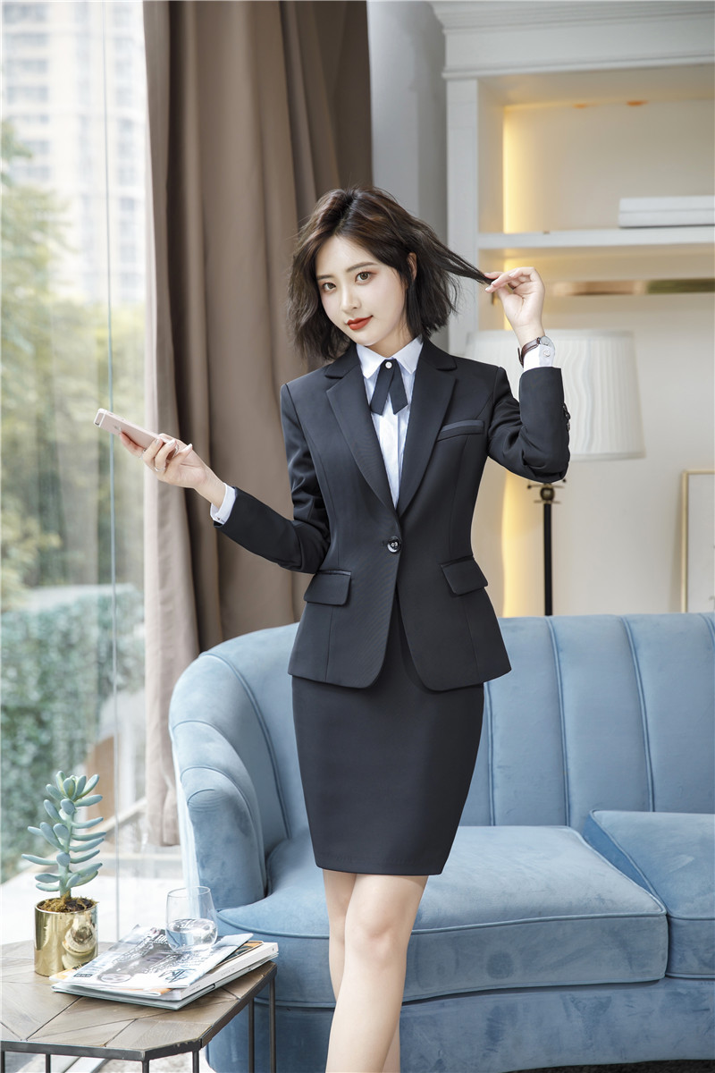 IZICFLY Spring Black Blazer Feminino Female Uniform Business Suits with Trouser Elegant Slim Office Suits for Women Clothing 4XL 54