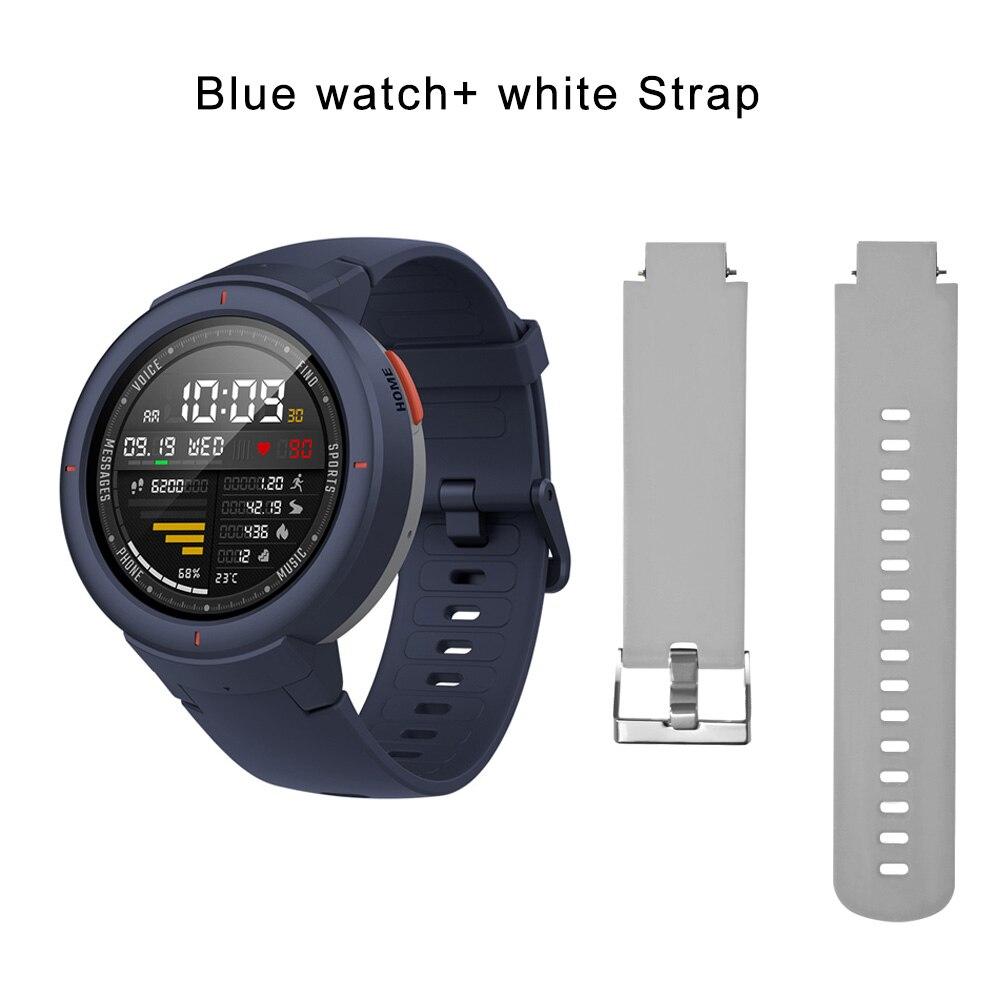 blue N white strap