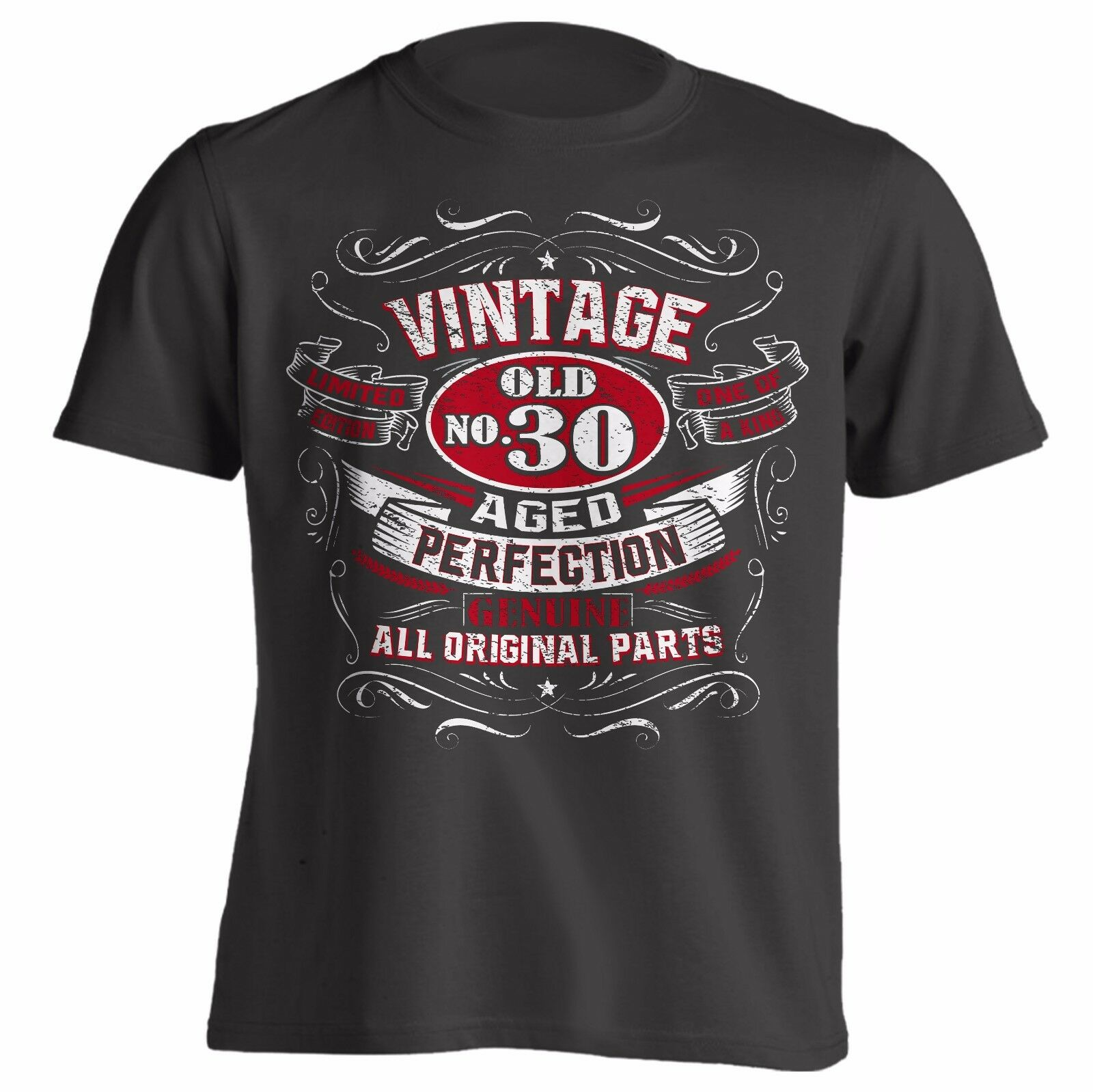 1979 1989 1999 Vintage Aged Perfection <font><b>Birthday</b></font> Gift Shirt Great Gift <font><b>Idea</b></font> for <font><b>Men</b></font> 20Th 30Th <font><b>40Th</b></font> 2019 Design <font><b>Men</b></font> Summer T-Shirt image
