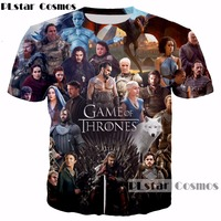 PLstar Cosmos Game Of Thrones The White Walkers Ghost 3D Printed Men Women T Shirt Casual