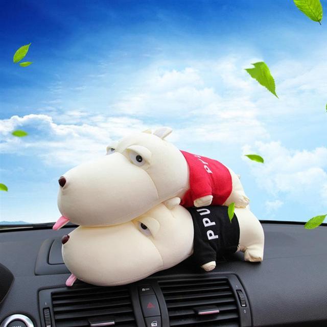 Bonito Dos Desenhos Animados Cão Saco de Carvão de Bambu Desodorante Carro de Purificação de Ar Útil Decoração Pode Acessórios Interiores