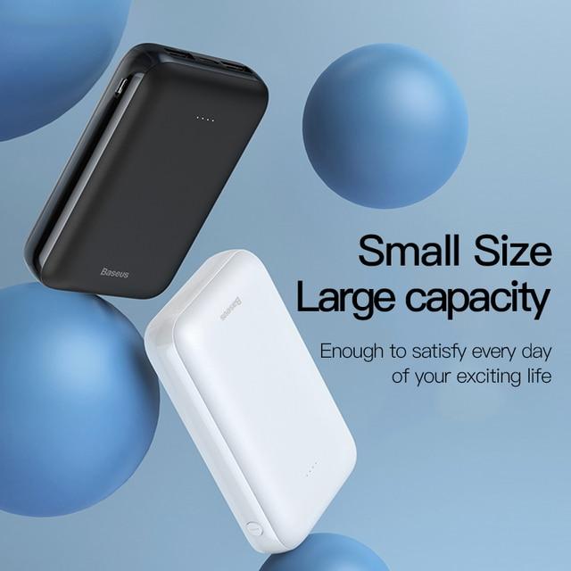 Baseus 10000mAh Mini Power Bank Portable USB Type C Fast Charger Small 10000 mAh Powerbank For iPhone Xiaomi Mi External Battery