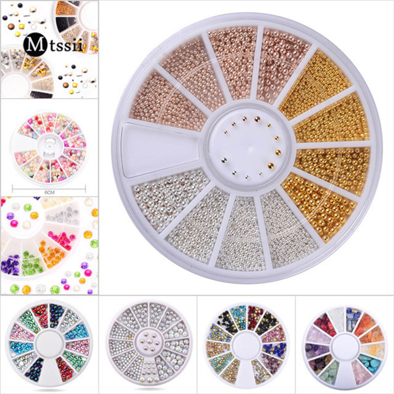 1Box Mix Size Steel Beads Nail Tips Wheel Colorful Square Resin Jelly 3D Nail Decoration Crystal Shiny Nail Studs Pearl Charms artlalic nail art tiny steel caviar beads mix size 3d design manicure jewelry rose gold silver diy decoration wheel wholesale