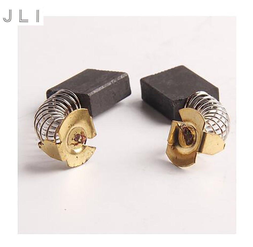 Spazzole di carbone JLI 20Pcs 6.5 * 13.5 * 16.3mm CB-153 per sega circolare elettrica da 9 pollici, accessori per macchine utensili in acciaio 355