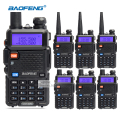 6pcs/lot portable baofeng UV5R two way radio big battery 1800mAh Dual Band UHF VHF 136-174/400-520 walkie talkie