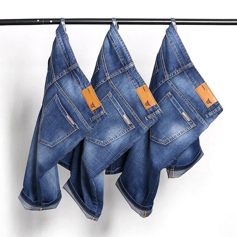 Brand Mens Summer Stretch Lightweight Thin Denim Jeans Short For Men Jean Shorts Pants Plus Size 32 33 34 35 36 38