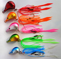 5pcs 150g/100g/80g/60g/50g/40g Jig head with fishing lure skirt  lead jig lead fish jigging lure metal fishing lure