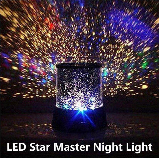 New 2017 Good Gift Starry Star Master Projector Led Night Light Kids Room Factory Cost Price Free Shipping In Lights From