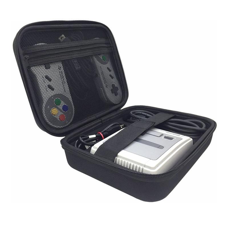 New Portable Storage Case Bag for Super Nintendo Console handbag For SNES  Classic MINI Suitcase Storage Pouch Cover Box