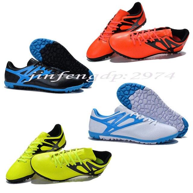 proporcionar un montón de los mejores precios bebé € 40.55 |Envío libre 2015 nuevas zapatillas deportivas zapatos de fútbol  Messi 15 3 zapatos de fútbol TF hombres de fútbol sala botas tamaño 39 45  en ...