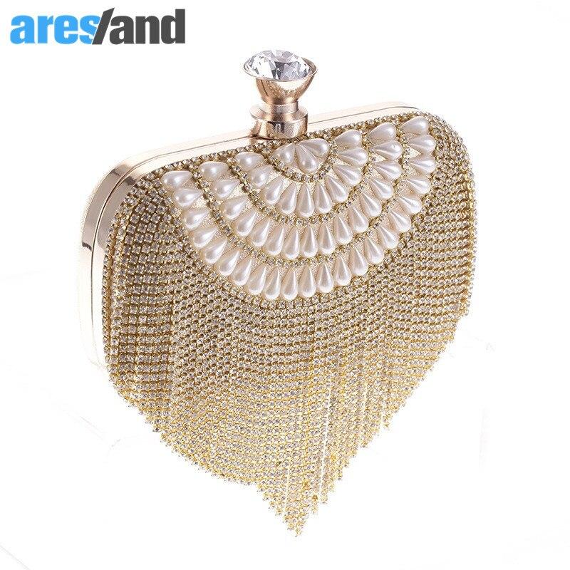 Aresland mujeres del bolso del diamante bolsa de la cadena ladies evenning bolso