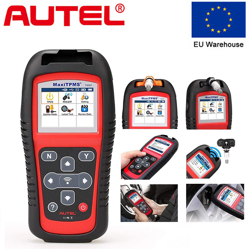 Autel MaxiTPMS TS501 Activate TPMS Sensors Reads Clears Codes Of TPMS System OBD2 Scanner 315 433Mhz