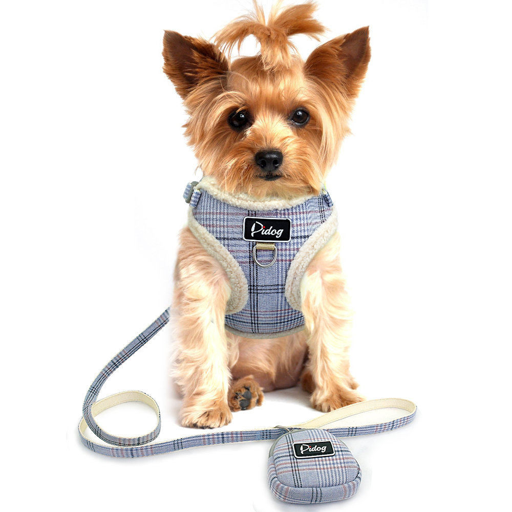 Strap - Soft Pet Dog Harnesses Vest No Pull Adjustable Chihuahua Puppy Cat Harness Leash Set For Small Medium Dogs Coat Arnes Perro
