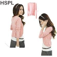 HSPL Cardigan Women Knitted Female Pink Sweater Autumn 2017 Hot Sale Short Fashion Cashmere Knitting Summer V-neck White Jumper