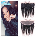 Cheap 13*4 Ear to Ear Lace Frontal Deep Wave , Brazilian Deep Wave Lace Frontal Closure With Baby Hair