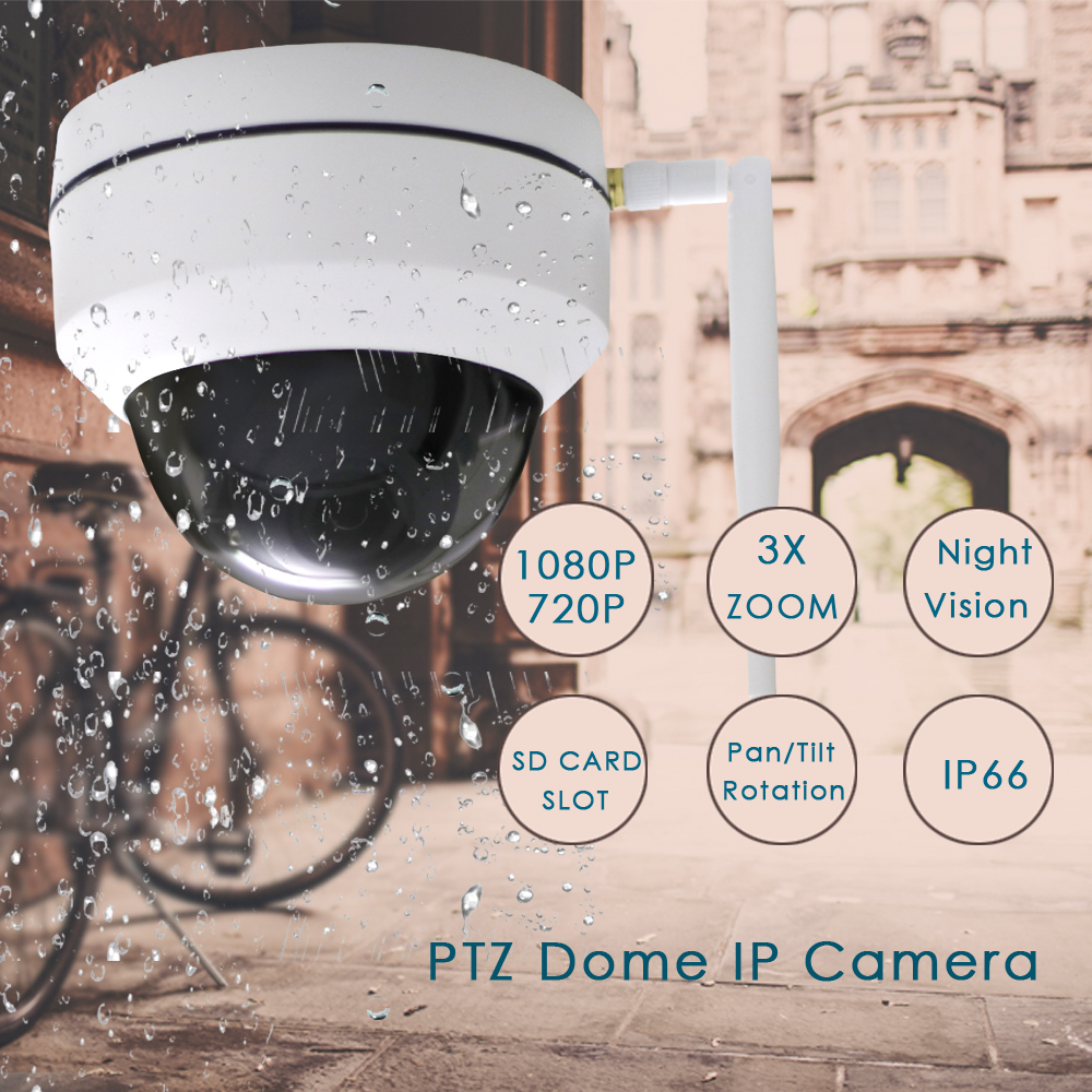 Image 2 - CTVMAN Security PTZ Cameras Dome Pan/Tilt/Zoom 3X Camera Wifi Outdoor Network Wireless PTZ IP Camera 1080P P2P Mini Wi fi Cam-in Surveillance Cameras from Security & Protection
