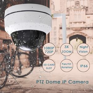 Image 2 - CTVMAN güvenlik PTZ kameralar Dome Pan/Tilt/Zoom 3X kamera Wifi açık ağ kablosuz PTZ IP kamera 1080P P2P Mini Wi fi kamera