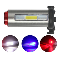 100 LUMENS LED Bike Tail Light Aluminum Rechargeable Bicycle Tail Flashing Lights Safety Warning Bicycle Rear