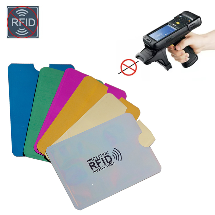 Multicolor Laser Anti Rfid Wallet Blocking Reader Lock Bank Card Holder Men ID Bank Card Case Protection Metal Credit Aluminium