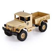High Quality RC Cars 1:16 Mini Off-Road RC Military Truck RTR Four-Wheel Drive /Metal Suspension Beam Bright LED Light Gifts Toy
