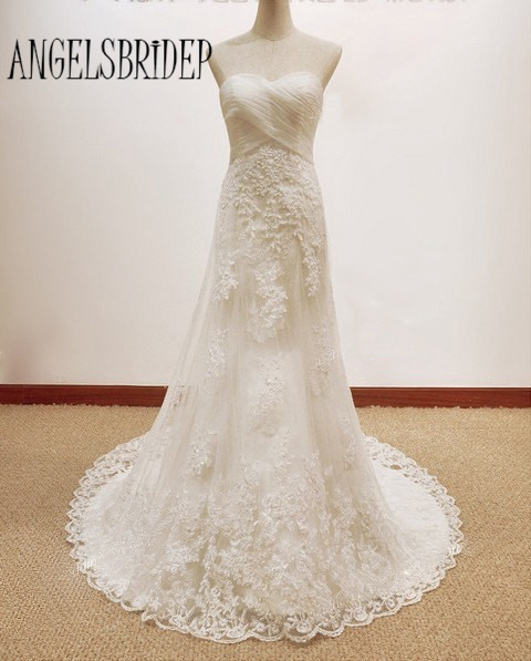 Vintage Real Photo Wedding Gowns A Line Dresses 2015 Plus Size With Lace Appliques And