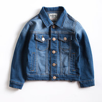 2017 Baby Boy Simple Fashion Denim Jacket Leisure Coat Children Kids Jeans Boys Ripped Jeans Jackets
