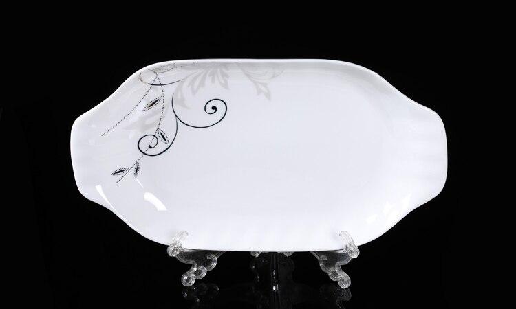 Chinesischen stil rechteckigen keramik fischplatte Bone China ...