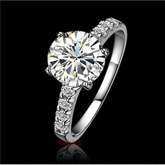 1CT Solid Gold 14Karat Four Prongs Fantastic Synthetic Diamonds