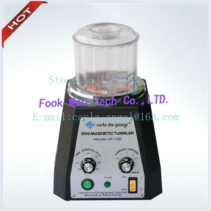 цена на Free Shipping 220V Jewelry Polishing Machine CARLO DE GIORGI Mini Magnetic Tumbler