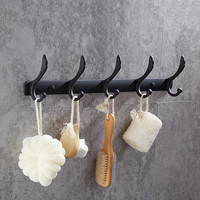 Cloth Hooks 7 hooks Stainless Steel Antlers American Style Wall Mounted Household Decor Hooks for Kitchen Bathroom bedroom k8