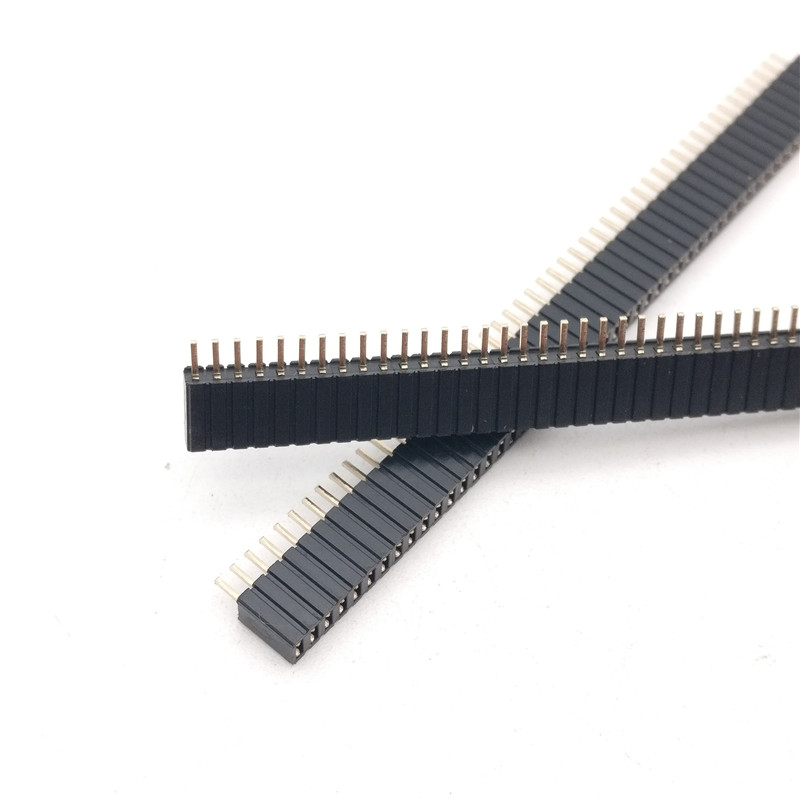 50pcs 1x50P 50 pin 1.27mm Pitch Pin Header Female single row straight through hole DIP Rohs Lead free