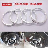 71 5 64 1mm 4 Pcs Lot Silver Aluminum Alloy Wheel Hub Centric Rings Custom Sizes