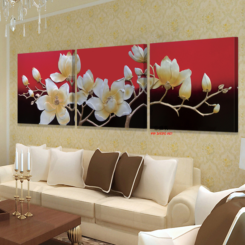 Home decoration modern 3 piece wall decor pictures for for Piece of living room decor