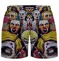 Новый 3D шорты Vampire печатных мужская мода летние случайные пляжные шорты